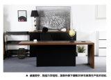 Escritorio de madera moderno del ejecutivo de la oficina