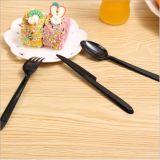 Umweltfreundliches Wegwerfplastiktischbesteck-gesetztes Messer, Gabel, Löffel