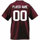カスタマイズされた名前および番号を用いるカスタムフットボールジャージー
