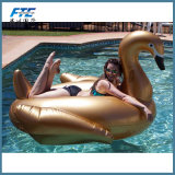 Passeio de animal de Glod insufláveis gigantes Swan exterior linha de flutuação