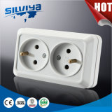 Double French Wall Socket 2way