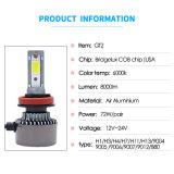 Indicatore luminoso automatico potente all'ingrosso del fascio 72W 8000lm LED del faro H4 Hi/Lo dell'automobile LED del chip della PANNOCCHIA di Bridgelux della fabbrica nuovo (S.U.A.)