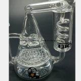 Doppelte Schicht-Bienenwabe-Filter-Spirale-Glas-Huka
