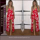 2018 printemps Imprimé floral élégant Lady robe longue pour la vente