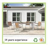 Mobilier en teck chaises de jardin avec cadres en acier inoxydable