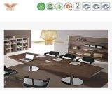 高品質の純木のオフィス用家具の形の長い会合表