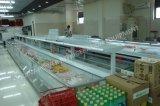 Diepvriezer van de Ijskasten van de Supermarkt van de Luchtkoeling de Commerciële