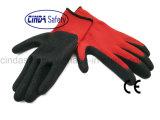 Перчатки безопасности Crinkle латекса работая