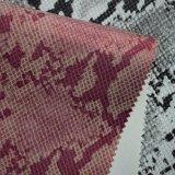 Tierschlange-Haut-Korn synthetisches künstliches PU-Beutel-Schuh-Leder