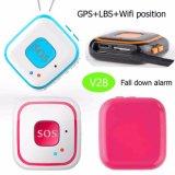 큰 Sos 단추 V28를 가진 WiFi Geo 담 키 펜던트 작은 GPS 추적자