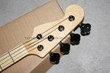 Нот Hanhai/гитара желтого сбор винограда электрическая басовая с обратным Headstock