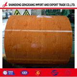 Usine Wood Design Fleur d'acier prépeint bobine d'impression pour le Vietnam