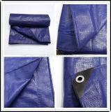 La bâche de protection PE Corising bleu foncé avec coins noir