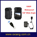 Wasserdichte HD1080p Polizei-Karosserie getragene Kamera mit Fernsteuerungs- und externer Minikamera 1080P