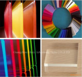 Transparência da alta qualidade e folha acrílica da cor para anunciar