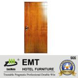 Portes en bois de style indien pour chambre d'hôtel (EMT-HD04)