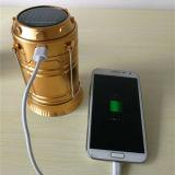 Lanterne campante compressible solaire de DEL avec le chargeur Emergency de téléphone cellulaire d'USB