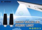 1つのスマートな太陽街灯の涼しい白30Wすべて