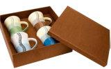 Caixa de indicador ondulada para copos da vitória do café