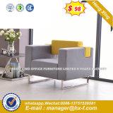 La Europa moderna metálica de acero Diseño sofá de cuero de la Oficina de espera (NS-D6075)