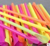 Cuchara plástica disponible de la paja de beber de Colorized del vajilla