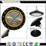 3030 UFO 150W LED 높은 만 빛 알루미늄 산업 창고 빛 5 년 보장