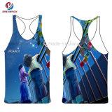 De la mujer de desgaste de ropa deportiva Fitness Gimnasio sublimación camiseta personalizada de desgaste