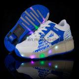 Heet verkoop de Schoenen van Heelys van de Schoenen van het Wiel van de LEIDENE Schoen van de Rolschaats