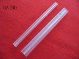 Haut double tube de quartz clair à fusible