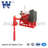Pompe à incendie verticale de turbine de long arbre de moteur diesel