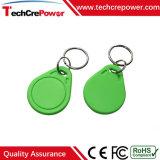 Tag RFID imperméable à l'eau passif de Keyfob 13.56MHz d'ABS de qualité avec Mf1 S70