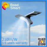 210lm/W à LED à énergie solaire de jardin d'éclairage de rue avec télécommande