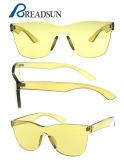 Gafas de sol transparentes coloridas modificadas para requisitos particulares unisex de los vidrios del ojo de gato del diseñador