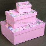 Flamingo Caja de regalo de papel, tamaño personalizado Caja con bolsa de regalo