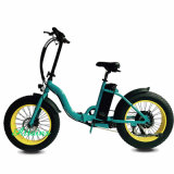 8fun do cruzador gordo da praia do pneu do motor 48V 350W bicicleta elétrica Foldable