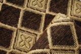 コーティングが付いているソファーのための200GSMブラウンカラーシュニールによって編まれるファブリック