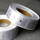 Baixo preço impresso personalizado rótulos acetinado em GUANGZHOU