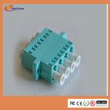 Fabricado en China Blue OM3 LC Quad Adaptador de fibra óptica de plástico