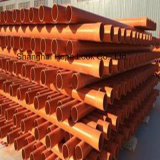 De elektro Montage van de Buis van pvc van de Pijp Stijve Oranje Ondergrondse