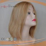Peluca delantera del pelo humano del color ligero del cordón (PPG-l-01785)