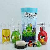 Vasos y tazas de la resina para los accesorios sanitarios del cuarto de baño fijados