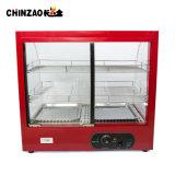 최신 판매 사각 3개의 층 유리제 음식 온열 장치 전시 진열장 Zsg-65-3