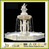 Natürlicher weißer Marmorstatue Oudoor Steinwasser-Garten-Brunnen (Hand/geschnitzt/schnitzend/Innen-/Äußeres/Kugel/Landcaping/Musik/Dame/Engel/Skulptur/Dekoration)