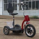 motorino elettrico pieghevole di mobilità 500W 3-Wheel con il E-Motorino del cestino