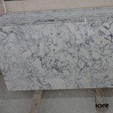 Parti superiori di marmo bianche pure personalizzate di vanità della stanza da bagno