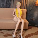 Poupée blonde sexy de sexe de silicones de bande de fille du jouet 165cm de sexe de produit de sexe d'homme adulte