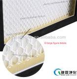 Мини-Плиссируйте фильтр HEPA с решетками предохранения и алюминиевой рамкой