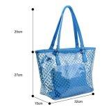 La spiaggia trasparente del PVC del sacchetto della signora Tote insacca la borsa della spalla con le piccole borse cosmetiche (WDL01116)