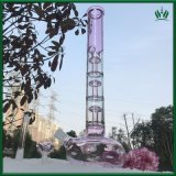 17 Zoll rosafarbener purpurroter Pilz Perc Glaspfeife-