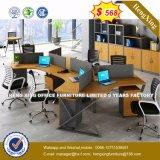 Sitio de trabajo de la partición de la oficina de la melamina del vector de la oficina de la manera (HX-8N0234)